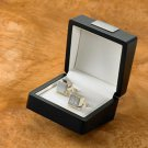 Sterling Silver Plated Cufflinks-Free Engraving