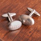 Oval Brushed Cufflinks - Free Personalization