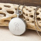Women's Clock Pendant Necklace - Free Personalization