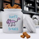 Ceramic Cat Treat Jar - Free Personalization
