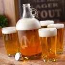 Engraved Growler Set (four blank pint glasses)- Free Personalization