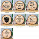 Wine Barrel Sign - 7 Designs - Free Personalization