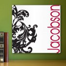 Fleur De Lis Blk/Red Canvas Print - Free Personalization
