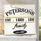 Live.Laugh.Love Canvas Print - Free Personalization