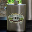 Guys Gun Metal Party Flask - Several Designs - Free Personalization