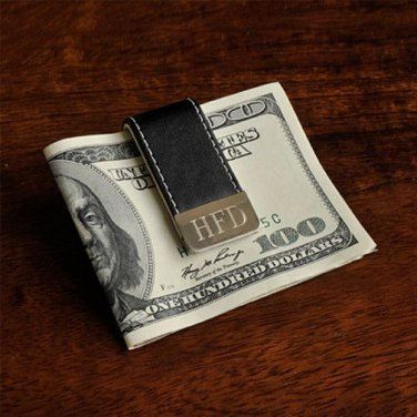 Gentry Leather Money Clip - Free Engraving