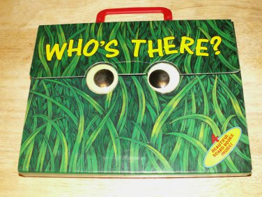 Who's There? Set of 4 Books and Carrying Case 1996 - Really Cute !
