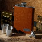 Tycoon Leather Flask Set - Free Personalization