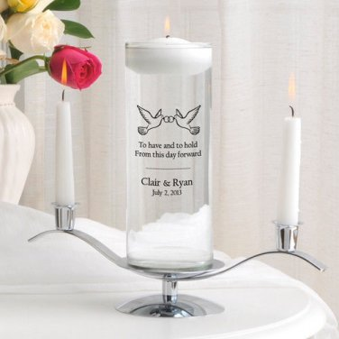 Floating Unity Candle Set - Free Personalization - Over 43 Image Choices