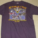 Harley Davidson Purple Shirt - The Eagle Still Soars Alone  -Size X-Large