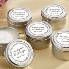 The Hunt is Over Wedding Personalized Travel Candle -Set of 24 - Wedding Favor