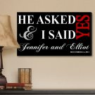 Personalized Black I Said Yes Canvas Print - Free Personalization