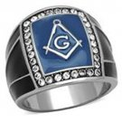 Mens Stainless Steel Masonic Ring