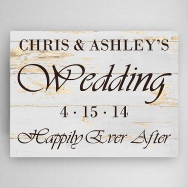 18x24 Wedding Reception Canvas Print