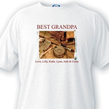 Personalized Grandpa Fishing T Shirt - Best Grandpa