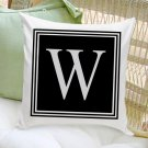Personalized Initial Throw Pillow - 2 Image Choices - Free Personalization