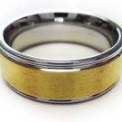 Stainless Ring Gold Center Comfort Fit