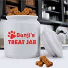 Colorful Classic Dog Treat Jar- Free Personalization - 4 Image Choices