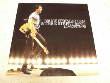 Bruce Springsteen and the E Street Band Live LP booklet only