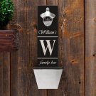 Wall Mounted Bottle Opener and Cap Catcher - Free Personalization - 12 Designs