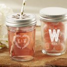Personalized Printed Mason Jar - Rustic Wedding Collection (Set of 36)