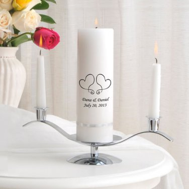 Unity Candle Set -Free Personalization - Over 43 Image Choices