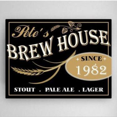 "Brewery Canvas Sign 24""x18"" - Free Personalization"