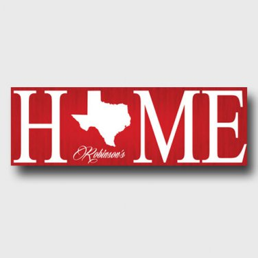 Personalized Home State Canvas - Free Personalization