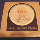 Precious Moments Plate  Our First Christmas Together 1982