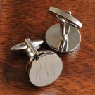 Pin Stripe Cufflinks - Free Engraving