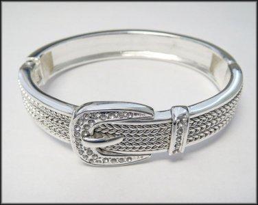 Silver Braided Rope Bracelet