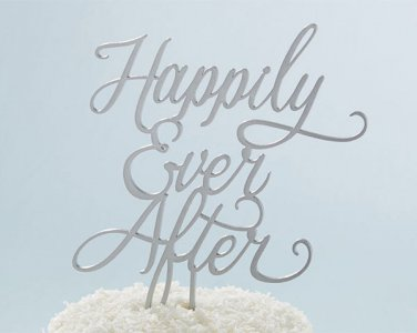 Happily Ever After Cake Topper