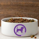 Circle of Love Silhouette Large Dog Bowl - Free Personalization