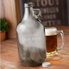 Gunmetal Beer Growler - Free Personalization