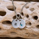 Personalized Crystal Charm Necklace - Free Personalization