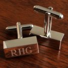 Rectangular Cufflink Bars - Free Engraving
