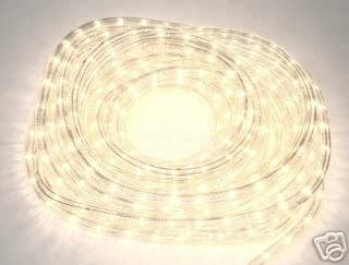 50' Indoor / Outdoor Decorative Rope Lights (White / Clear)