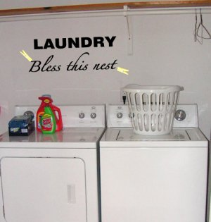 Laundry Bless this Nest Wall Decal
