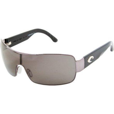 Costa Del Mar Panga Polarized Sunglasses - Costa 400 Gunmetal/Grey