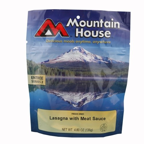 Mountain House Lasagna with Meat Sauce Freeze Dried Meal 4.80oz