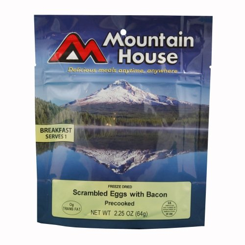 Mountain House Scrambled Eggs with Bacon Freeze Dried Meal 2.25oz