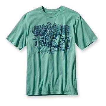 Patagonia Men's Woodcut Surf T-Shirt - Ice Fiord, Medium