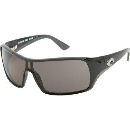 Costa Del Mar Bill Chaser 400 Polarized Sunglasses - Black/Gray