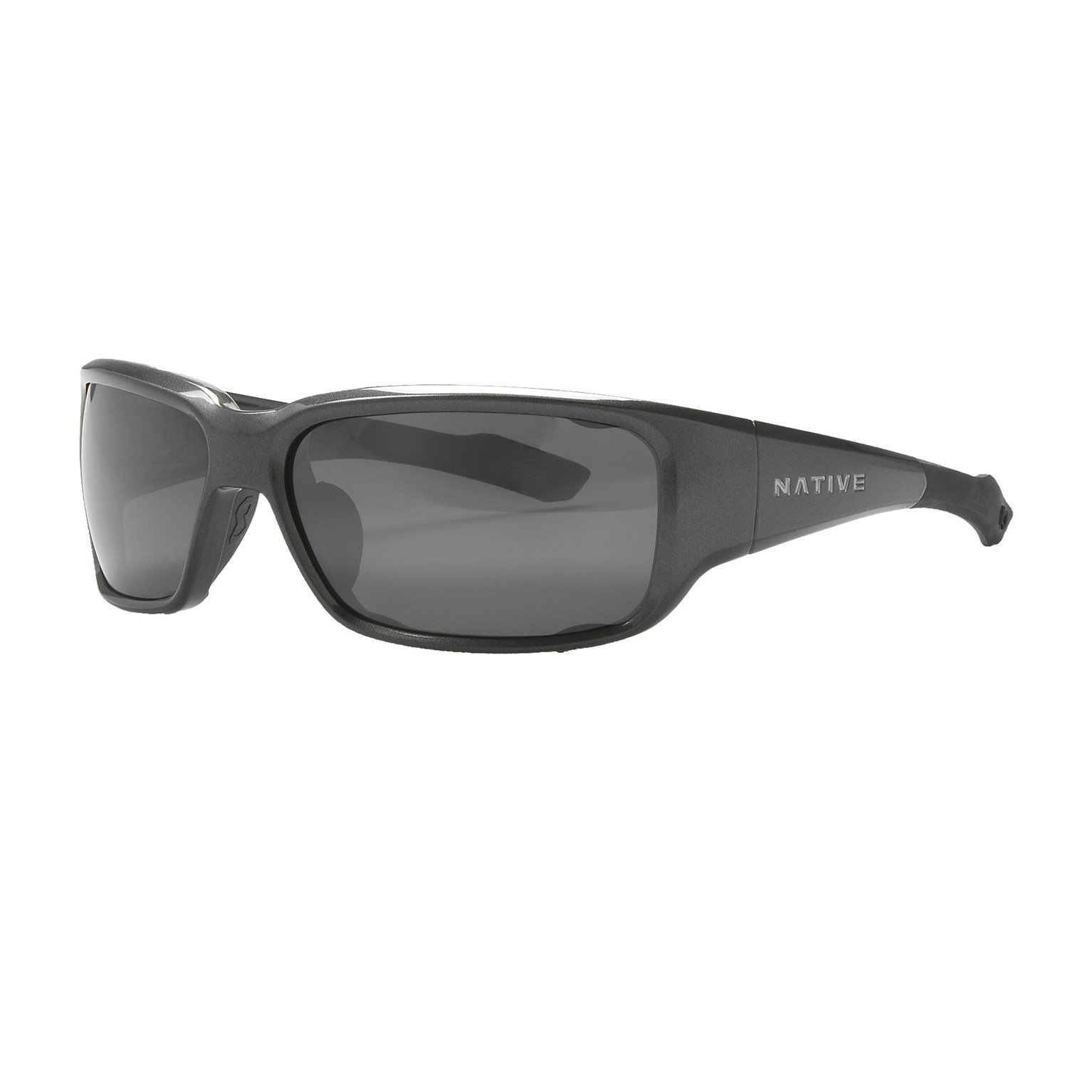 Native Eyewear Bolder Sunglasses - Polarized Gunmetal/Silver Reflex