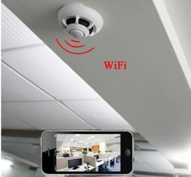 NEW Wireless Wifi P2P UFO Type Smoke Pinhole SPY Camera Detector with Internet Connection