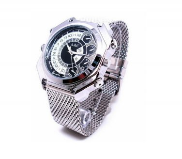 NEW 8GB 12MP HD 1080P Waterproof Watch SPY Camera Mini DV DVR With Voice Activated