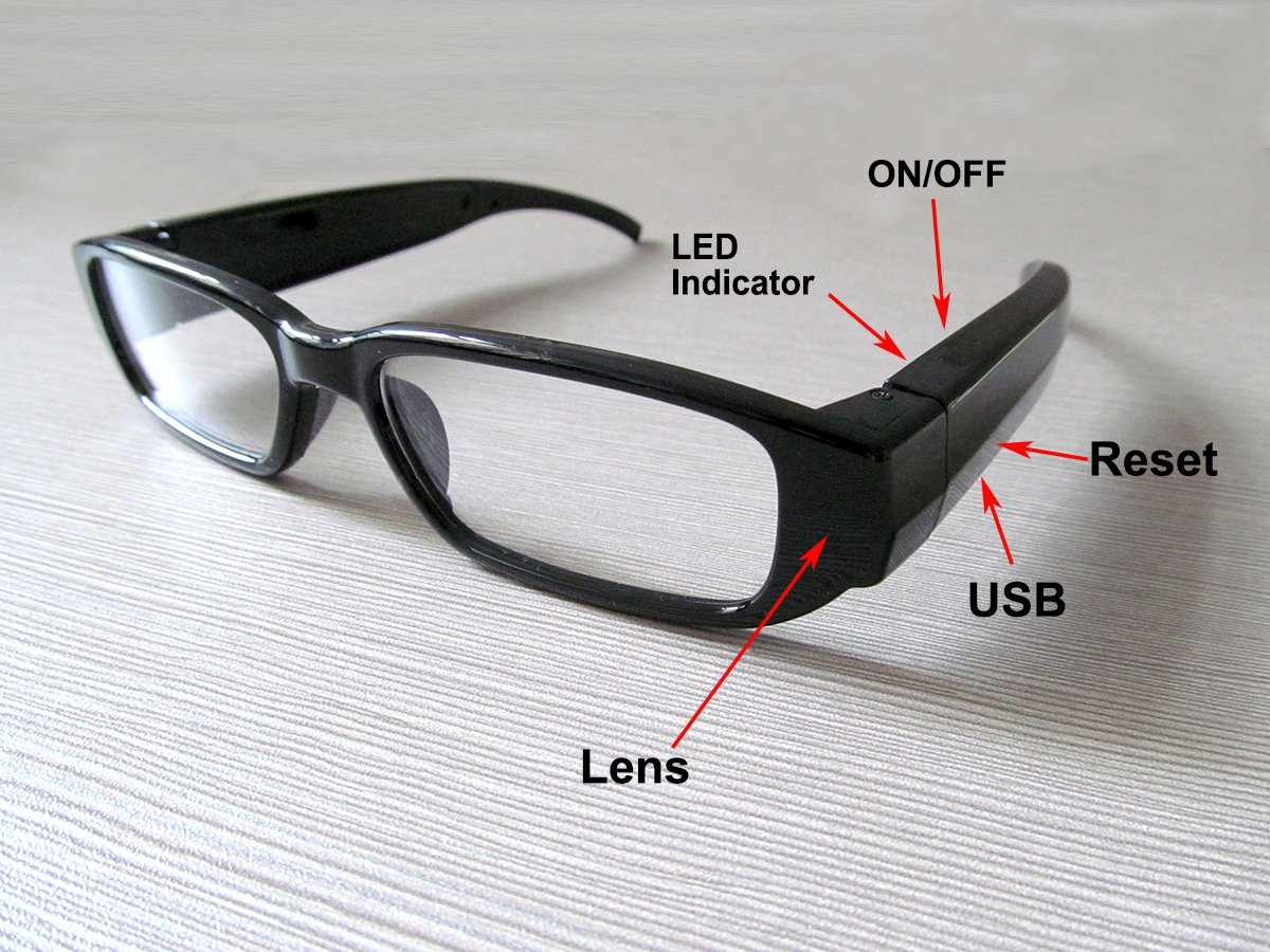 945bb4a4d1 A1000 1080P 5MP HD Glasses camera SPY eyewear Camcorder with Undetectable  Lens