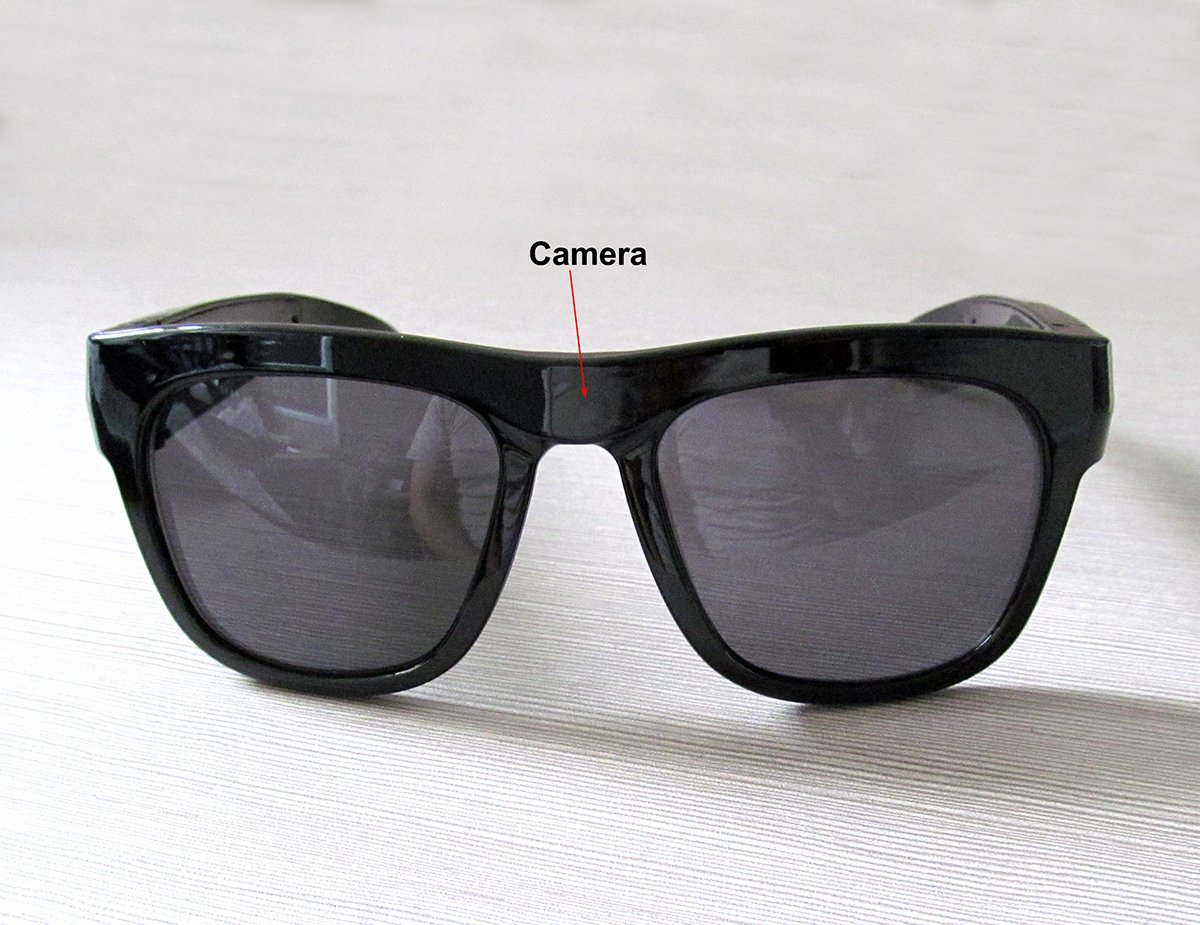 A2000 1080P 5MP HD sunglasses SPY camera eyewear Camcorder DVR with Undetectable Lens