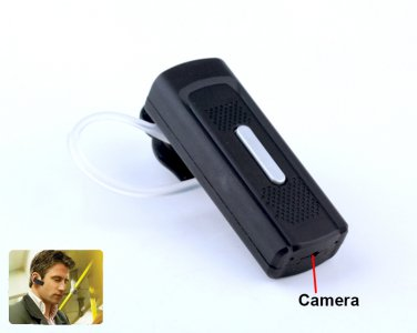 NEW HD 720P Bluetooth earphone SPY Camera DVR with Motion Detection Record -K8
