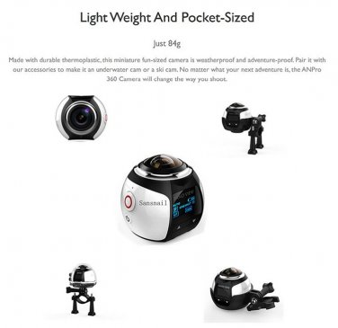 New HD Mini 360 Degree Panoramic Sport DV Underwater 40M Extreme Action Camera
